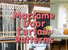 MACRAME DOOR CURTAIN PATTERNS