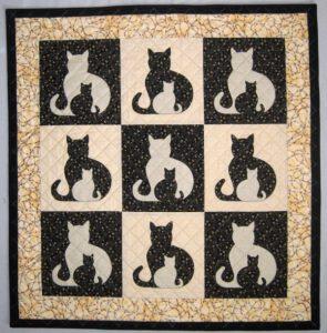 APPLIQUE SIDEKICK CAT QUILT PATTERN BY CAROLINA SQUIRREL