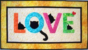 CAT LOVE LETTERS QUILT PATTERN BY QUILT LILY DESIGNS