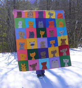 CAT QUILT PATTERN WORKSHOP BY SHINY HAPPY WORLD