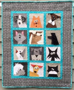 CATS N' DOGS PAPER PIECED QUILT PATTERN BY MADE BY MARNEY