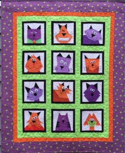 CRAZY CATS PAPER PIECED QUILT PATTERN BY MADE BY MARNEY