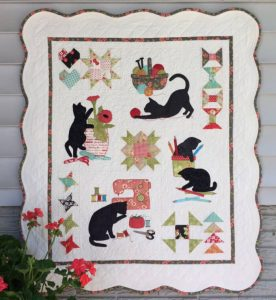 KITTY CRAFT WALL HANGING QUILT PATTERN BY KLEE2STRINGS