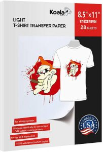 Koala Paper Light Fabric Iron-on T shirt Transfer Paper