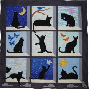 LOOKING OUT CAT QUILT WALLHANGING PATTERN BY CALVERT QUILTS
