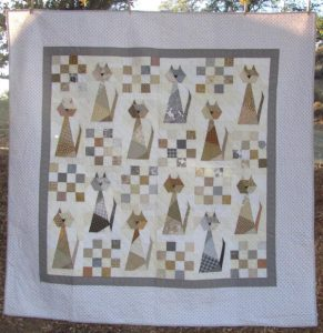 SCRAPPY CAT QUILT PATTERN BY QUILTINUPACREEK