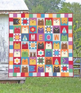 THE CATNIP CAT QUILT PATTERN BY THE RED BOOT QUILT CO.