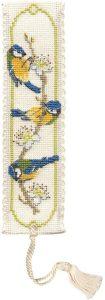 Bluetits Bookmark Cross Stitch Kit