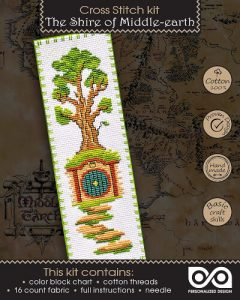 Cross Stitch Kit Lord of The Rings The Shire of Middle Earth Bookmark Kit