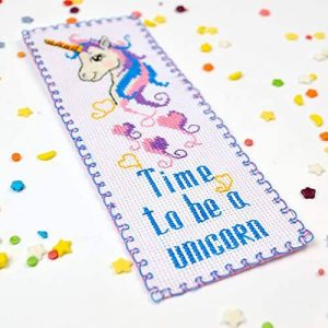 Embroidery kit 'Unicorn' Cross Stitch Bookmark Kits