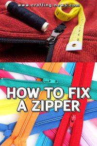 HOW TO FIX A ZIPPER CRAFTING NEWS