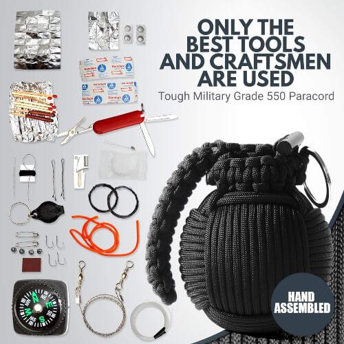 Holtzman's Survival Kit Paracord Grenade Emergency kit