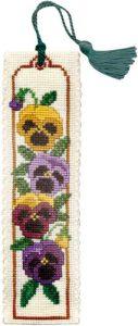 Pansies Bookmark Cross Stitch Kit