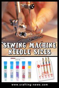 SEWING MACHINE NEEDLE SIZES