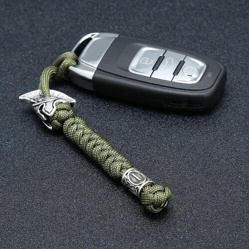 Spartan Helmet Paracord Keychain or Lanyard by 511paracord