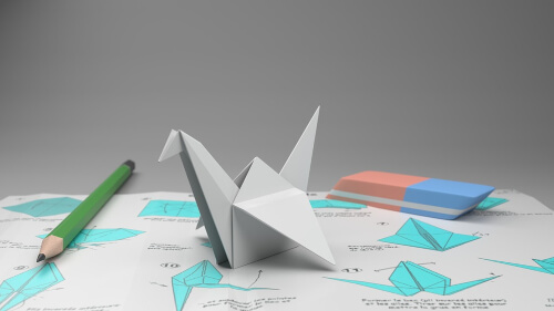 Steps on how to make an origami crane