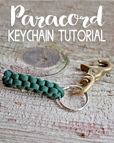 Survival Paracord Keychain from Kleinworth & Co