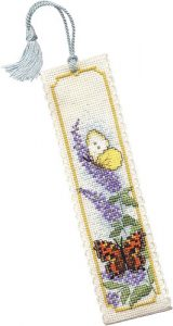 Textile Heritage Butterflies & Buddleia Counted Cross Stitch Bookmark Kits