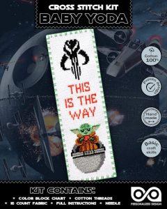 The Child Baby Yoda Cross Stitch Bookmark Kits