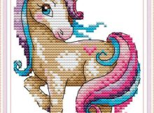 he Magical Unicorn Cross Stitch Kit for Kids