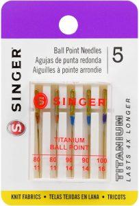 Titanium Universal Ball Point Machine Needles for Knit Fabric