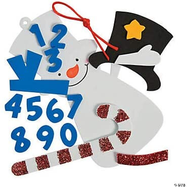 2020 Dated Snowman Christmas Craft Ornament for Kids