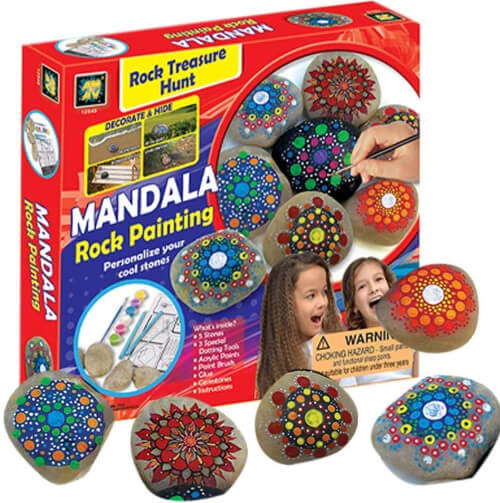AMAV Toys Mandala Rock Painting Kit