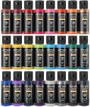 Arteza Permanent Fabric Paint, Set of 24 Colors