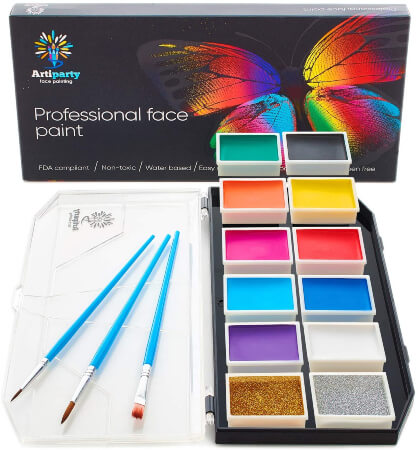 Artiparty Face Paint Kit Professional Face Painting Kit for Kids & Adults