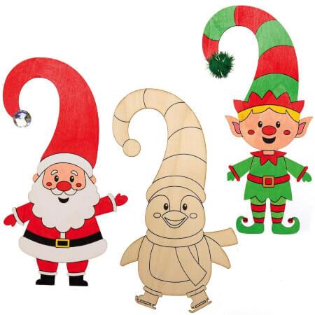 Baker Ross Christmas Characters Door Hangers