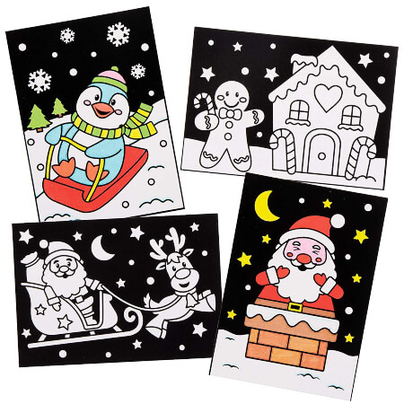 Baker Ross Christmas Color in Art Pictures Preschool Christmas Crafts