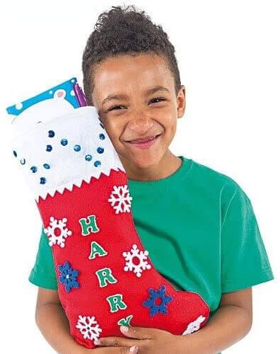 Baker Ross Large Felt Christmas Stockings