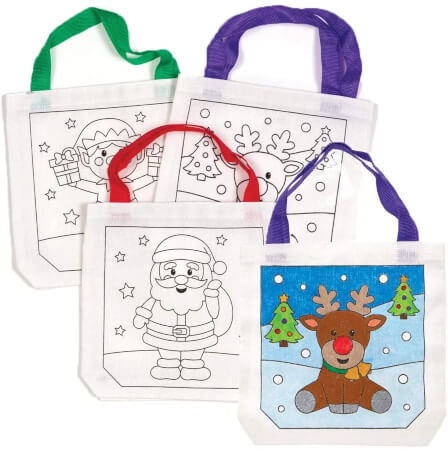 Baker Ross Ltd Christmas color In Fabric Bags, Festive Arts and Crafts