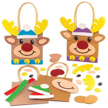 Baker Ross Reindeer Gift Bag Easy Christmas Crafts for Kids