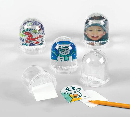 Baker Ross Snow Globe Kits Christmas Craft Kit for Kids