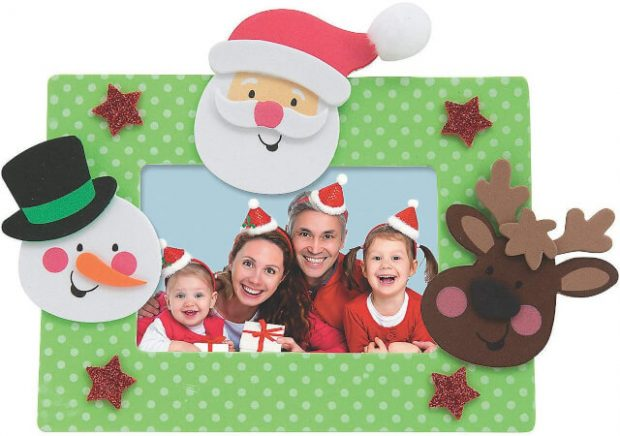 Character Foam Picture Magnet Easy Christmas Crafts for Kids