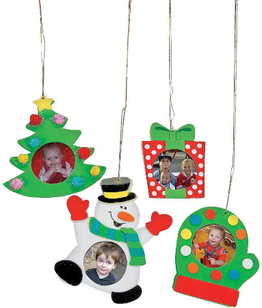 Christmas Crafts Ornaments for Kids & Picture Frame