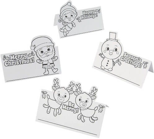 Color Your Own Christmas Placecards Preschool Christmas Crafts