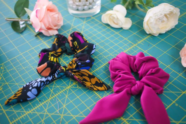DIY Hair Scrunchie Pattern Free from Rosy Pena