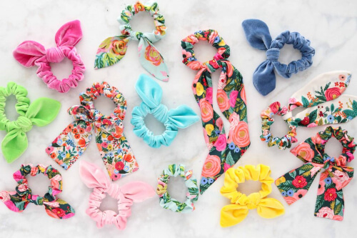 DIY How to make hair scrunchies from Kimberly Coffin