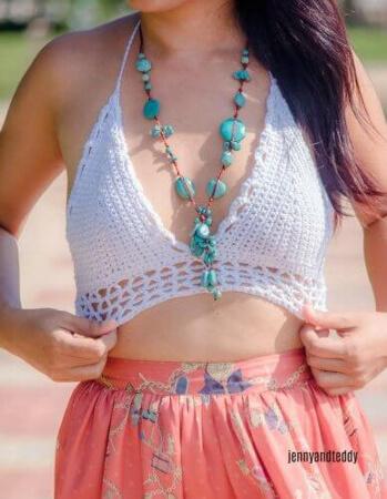 Easy Crochet Bralette or bikini top by jennyandteddy
