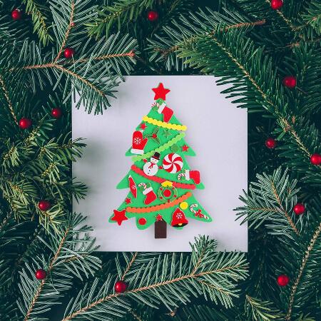 Elcoho 24 Kits DIY Foam Christmas Tree Crafts
