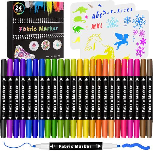 Emooqi 24 Permanent Colors Fabric Paint