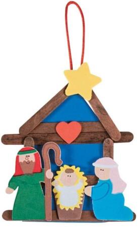 Fun Express Nativity Stick Ornament Preschool Christmas Crafts