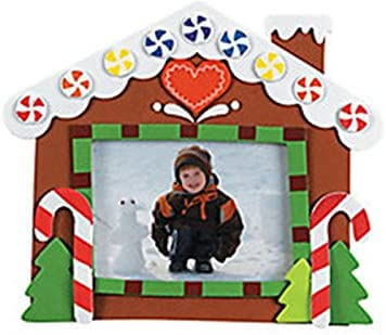 Gingerbread House Picture Frame Easy Christmas Crafts for Kids
