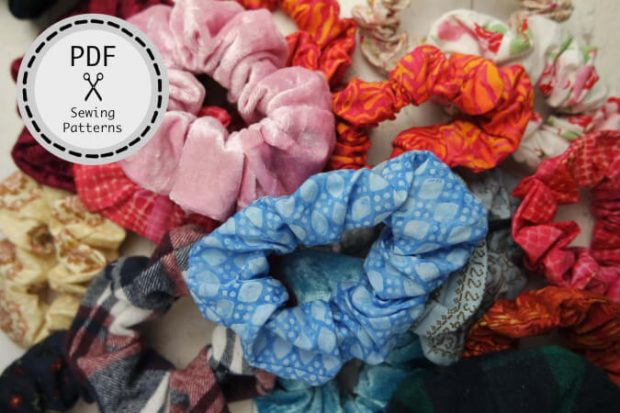 Hair Scrunchie Sewing Pattern from BonCoutureDesigns