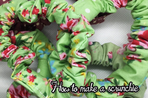 How to make hair scrunchies from SewArtByLisa