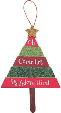 Layered Christmas Tree 3D Craft Kit - Christmas Craft Ornament for Kids