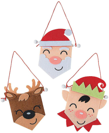 Mini Felt Christmas Banner Craft Kit - Crafts for Kids and Fun Home Activities