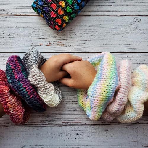 Quick and Easy Velvet Scrunchie Pattern from WillowWayCrochet